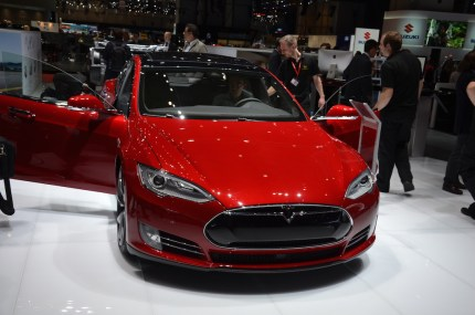 © MotorNews kw / 85. Auto-Salon Genf 2015 / Tesla Model S P85D