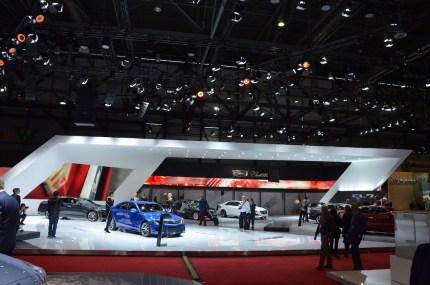© MotorNews kw / 85. Auto-Salon Genf 2015 / Cadillac Messestand