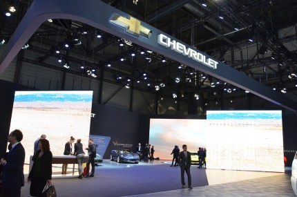 © MotorNews kw / 85. Auto-Salon Genf 2015 / Chevrolet Messestand