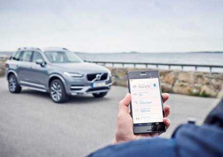 © Volvo / Volvo On Call app in an Android phone