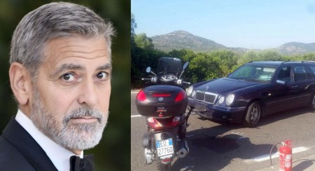 Actor George Clooney Injured in Scooter Accident