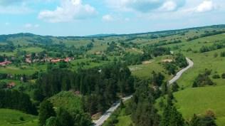 Vedere aeriala spre Brebu Nou