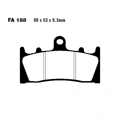 Bremsbelag EBC FA188HH vorne Kawasaki ZRX 1200 R