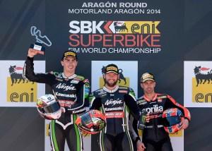 Aragon 2014 Race 2 podium