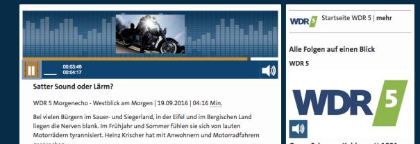 WDR Hörfunk berichtet aus NRW.