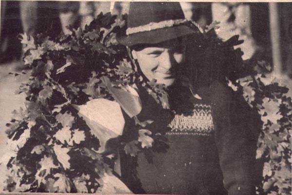 Sachsenring 1949, ein Sieger, vermutlich Motorradklasse