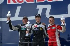 Podium Formel 3: Amweg,Höher,Chuard (v.l.n.r.)