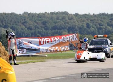 Die Frohburger Andreas Böse und Sven Steinbach nahmen Abschied vom aktiven Rennsport.