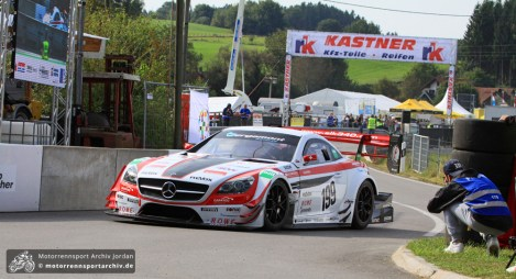 Reto Meisel ließ mit seinem SLK340 sogar einige Rennwagen hinter sich: 54,076 Sekunden