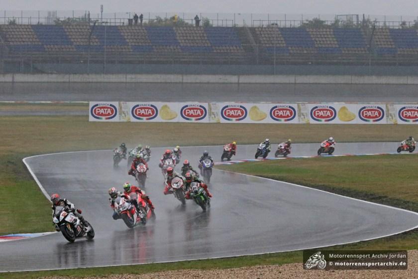 Lausitz unter Regen: Die Fahrer entschieden gegen einen Start
