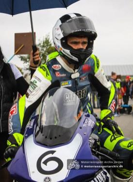 William Dunlop fuhr wegen technischer Probleme nur wenige Trainingsrunden. Platz 5 im OPEN-Superbike-Rennen war ein versöhnlicher Abschluss.
