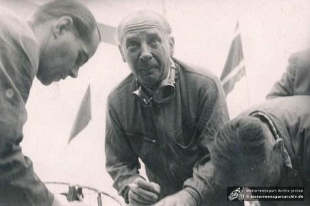 Automobilrennfahrer am Sachsenring
