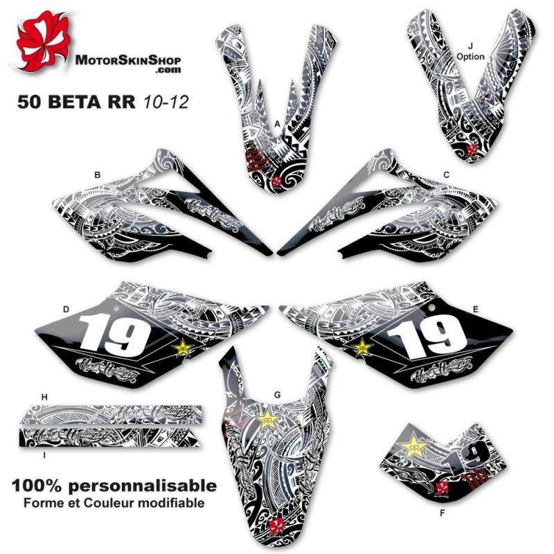 kit déco 50 beta RR 10-12 tribal art and huntington 50CC à