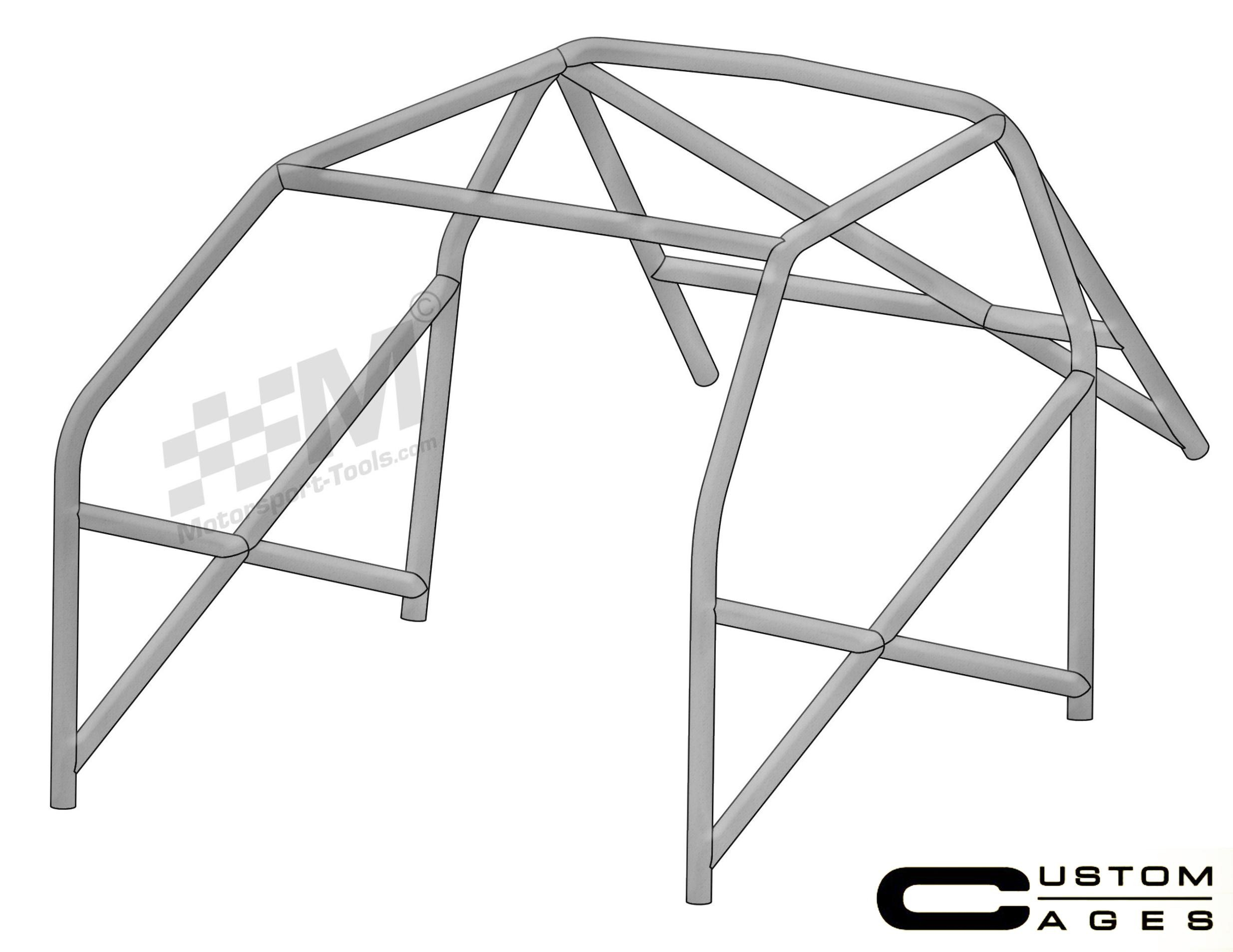 Custom Cages Bmw E36 3 Series Coupe Only 6 Point Weld In