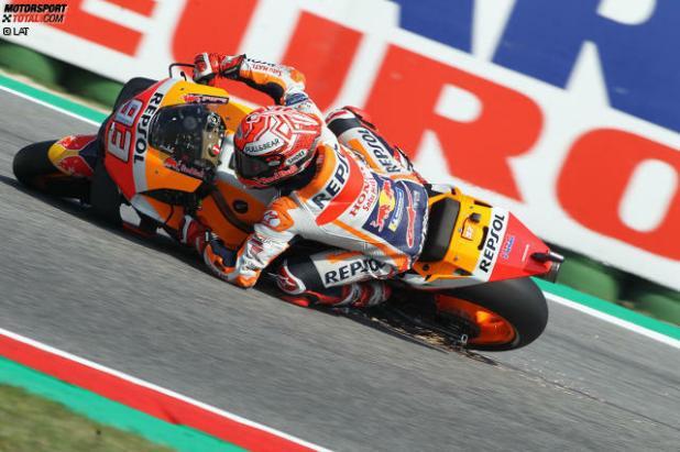 Marc Marquez stürzt im MotoGP-Qualifying von Misano