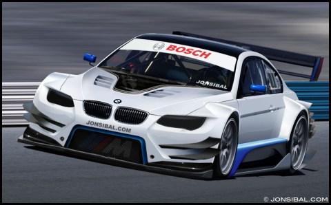 Der neue BMW M3 DTM 2012 auf der Rennstrecke
