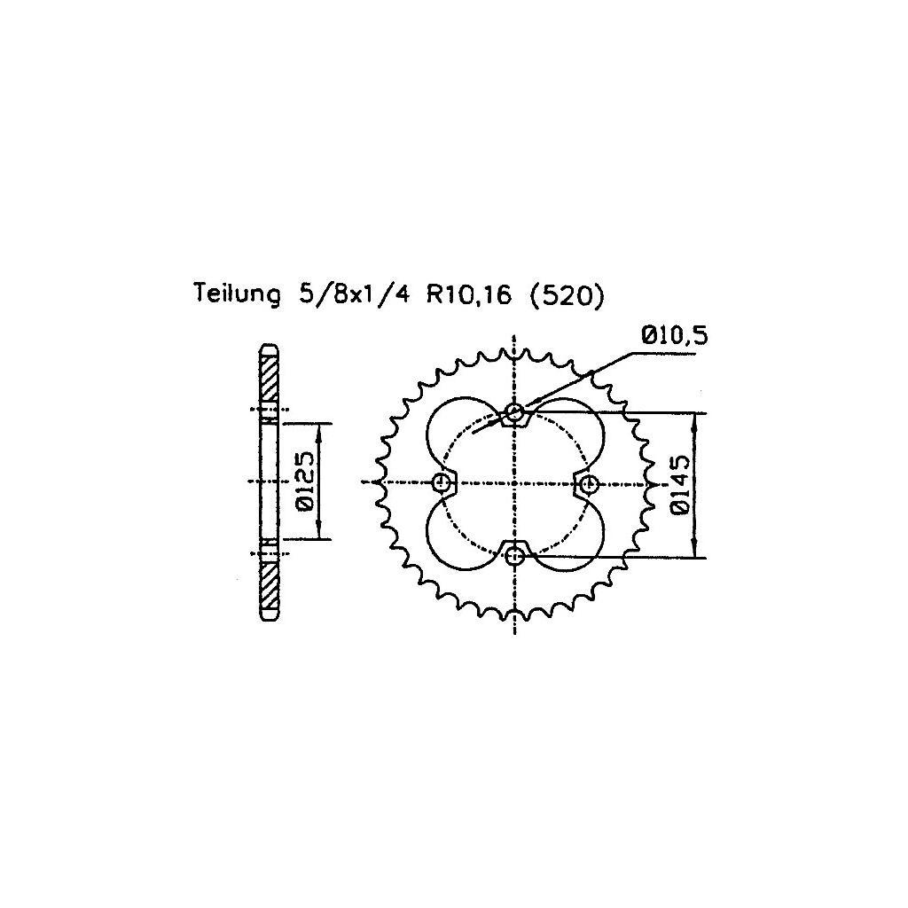 Kettensatz Raptor Yfm 350 R Tuning Verstarkt Z 18 36