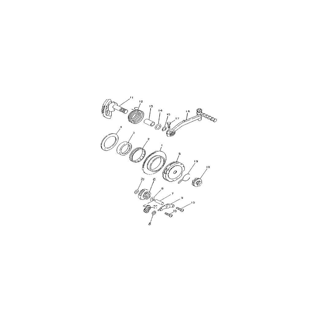 Anlasserfreilauf für Anlasser Aeon Cobra 50, Revo 50, 29,95