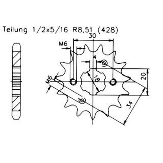 Ritzel Z.17 Daelim VL 125 Daystar/FI High Speed Tuning, 8,70