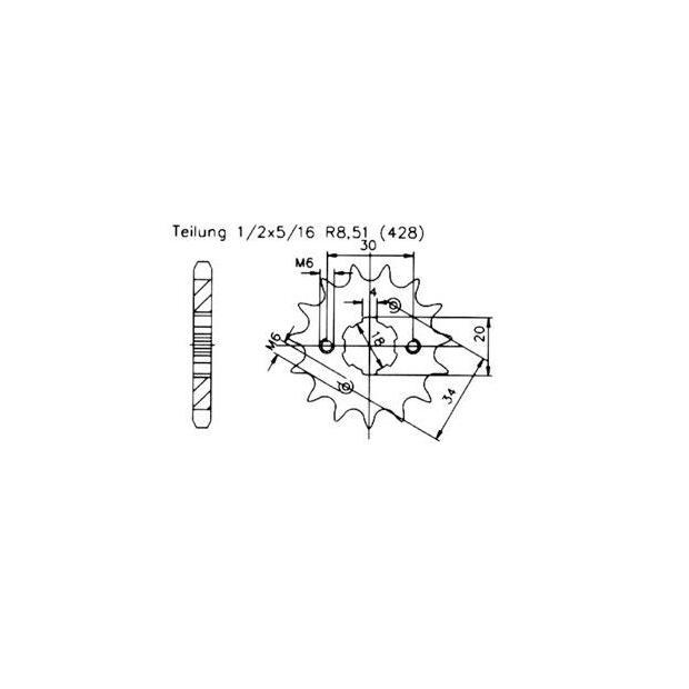 Ritzel Z.17 SYM XS 125 K High Speed Tuning, 9,95