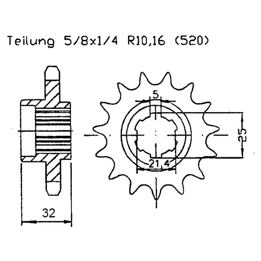 Front sprocket t.18 Adly Hurricane Canyon 280 / 320, USD 34,46