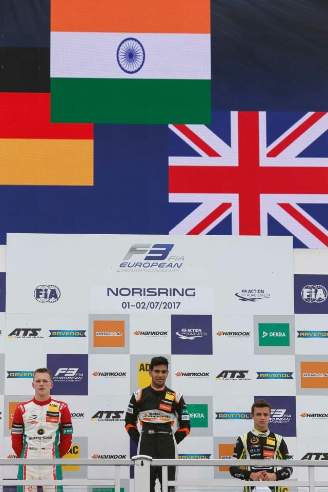 FIA F3 European Championship 2017 - Norisring - Jehan Daruvala Carlin Motorsport winner