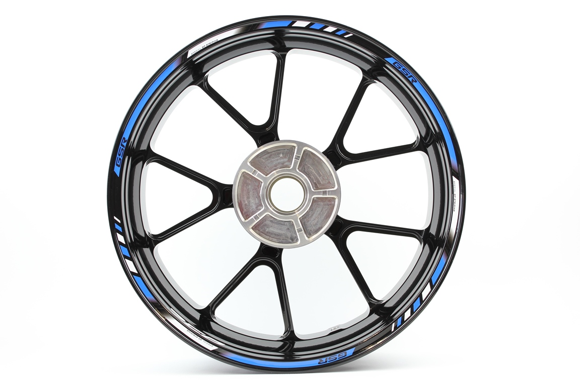 Rim striping SpecialGP Suzuki GSR 750 in the colors blue