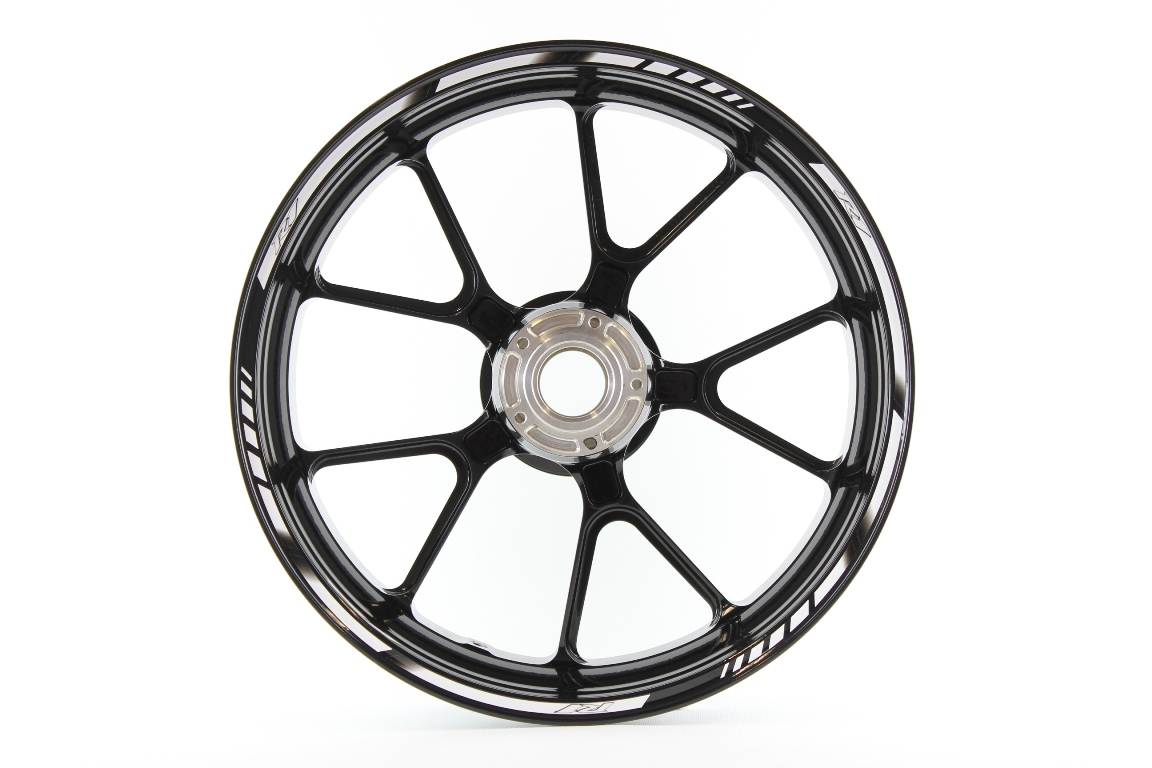 Rim striping SpecialGP Yamaha YZF R1 in the colors white