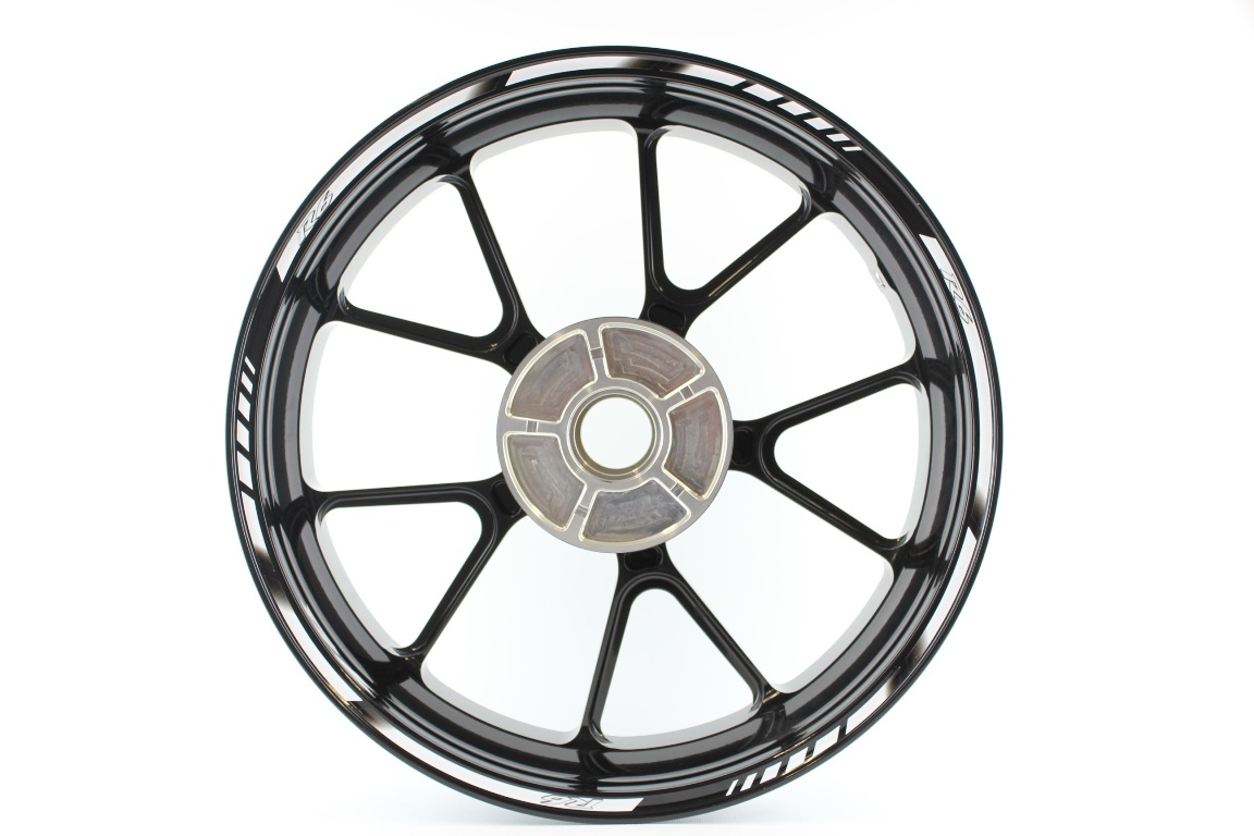 Rim striping SpecialGP Yamaha YZF R6 in the colors white