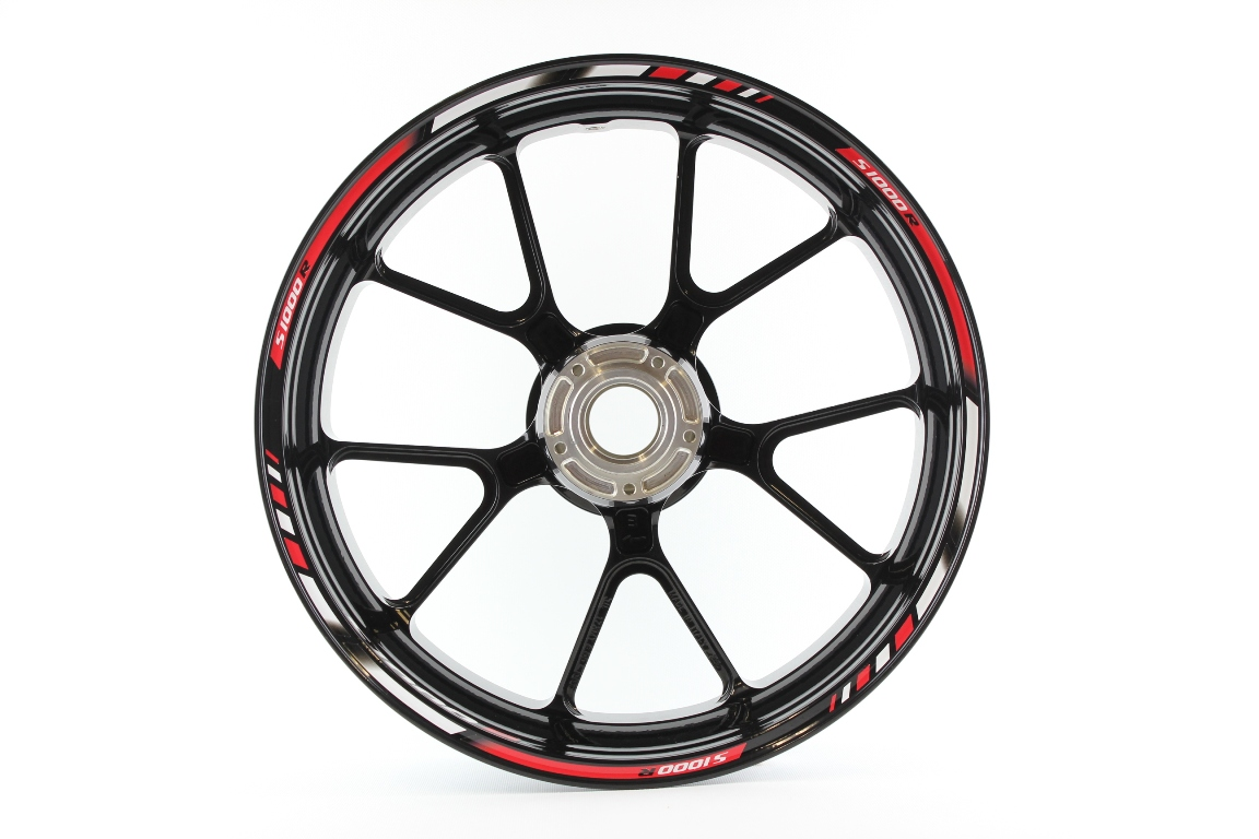 Rim striping SpecialGP BMW S1000R in the colors red, white