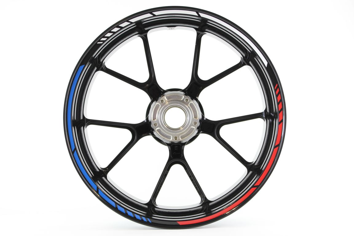 Rim striping MotoGP stylein the 3 colors of Holland7mm