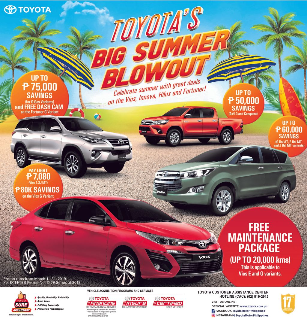 "Toyota Motor Philippines Is Offering Great Deals On Wigo: Toyota Offers Amazing ""Summer Blowout"" Promo Until March"