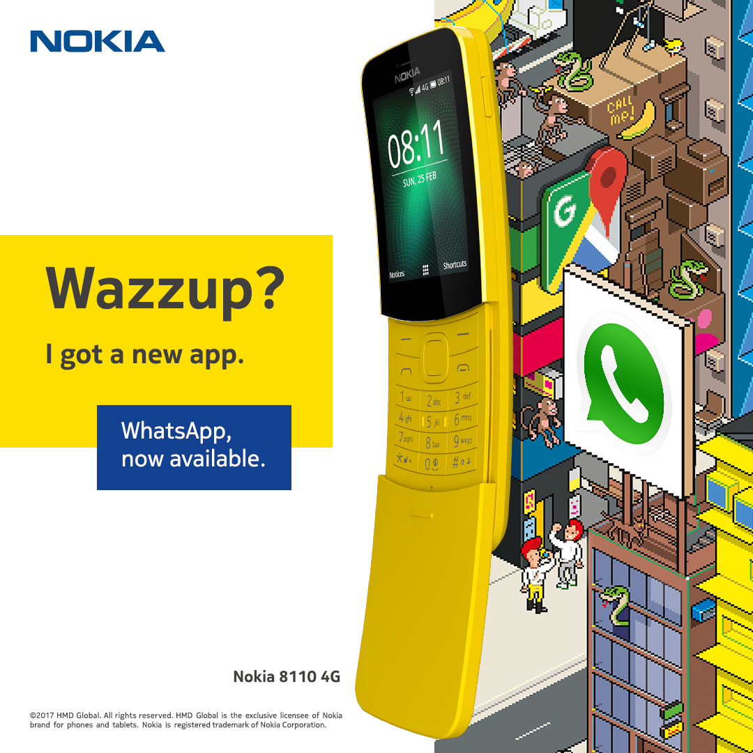 WhatsApp Now Available at Nokia 8110 4G Phones - Motortech ph