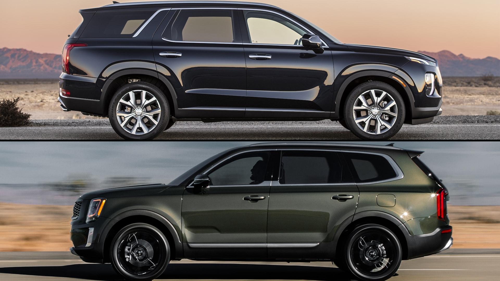 hyundai's first big suv is a hit: Hyundai Palisade Vs Kia Telluride A Features Comparison