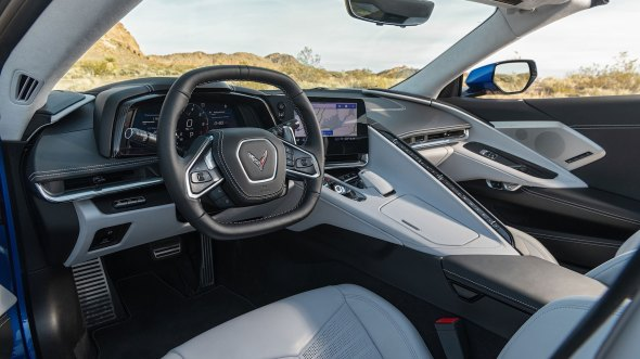2020 Chevrolet Corvette C8 front interior detail