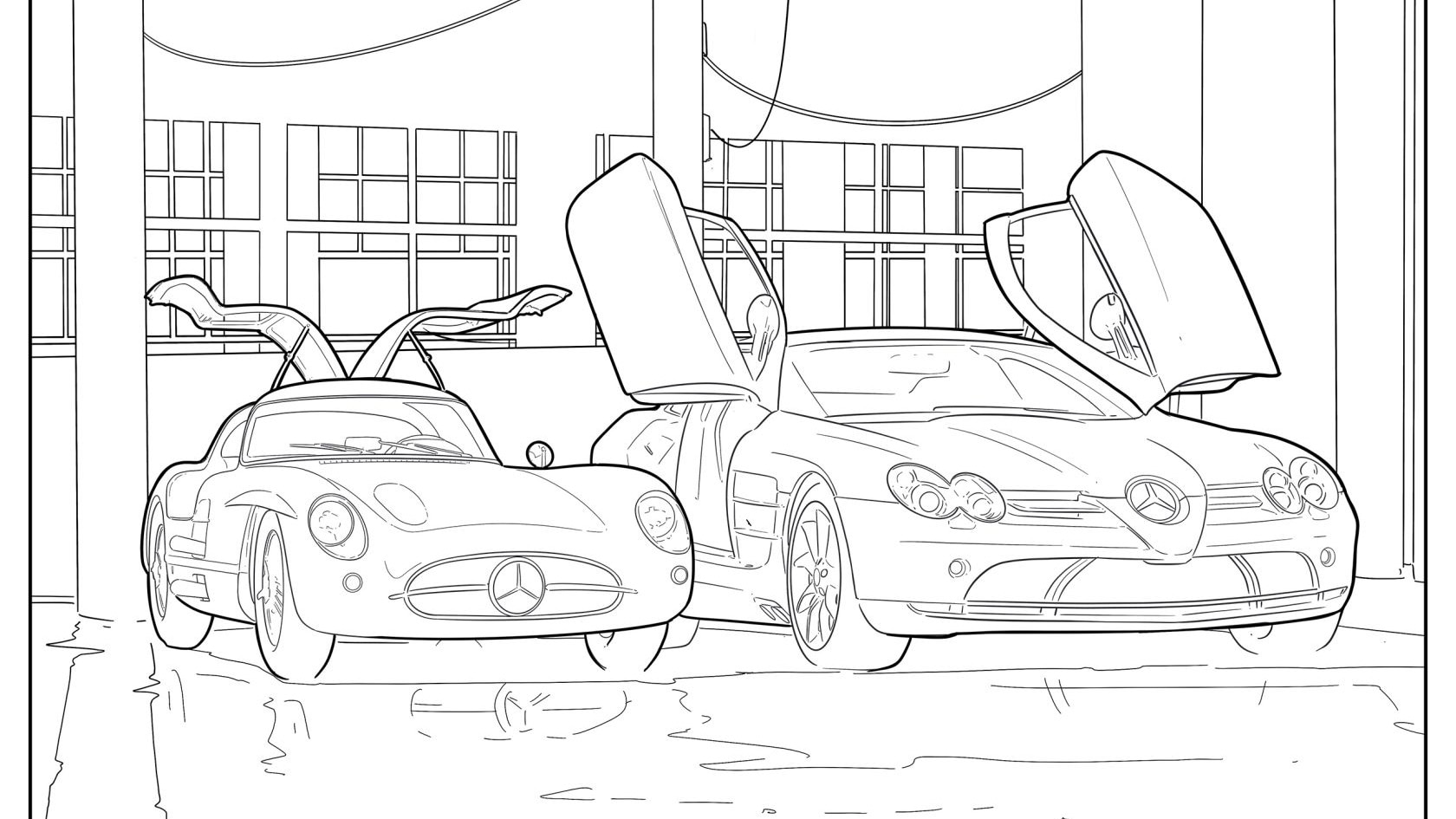 Cool Car Themed Coloring Books For Staying Busy When