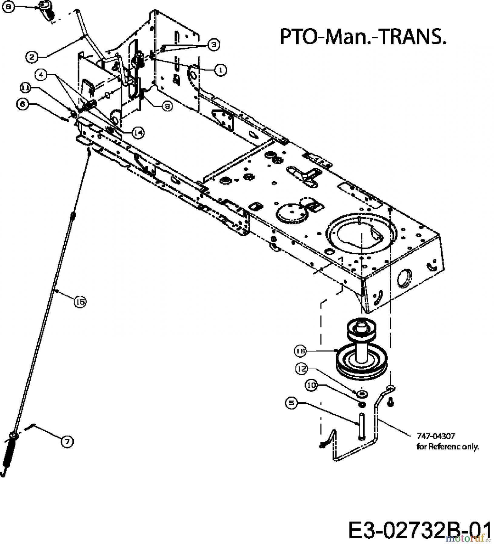 MTD Lawn tractors RS 125/96 13A1762F600 (2007) Deck
