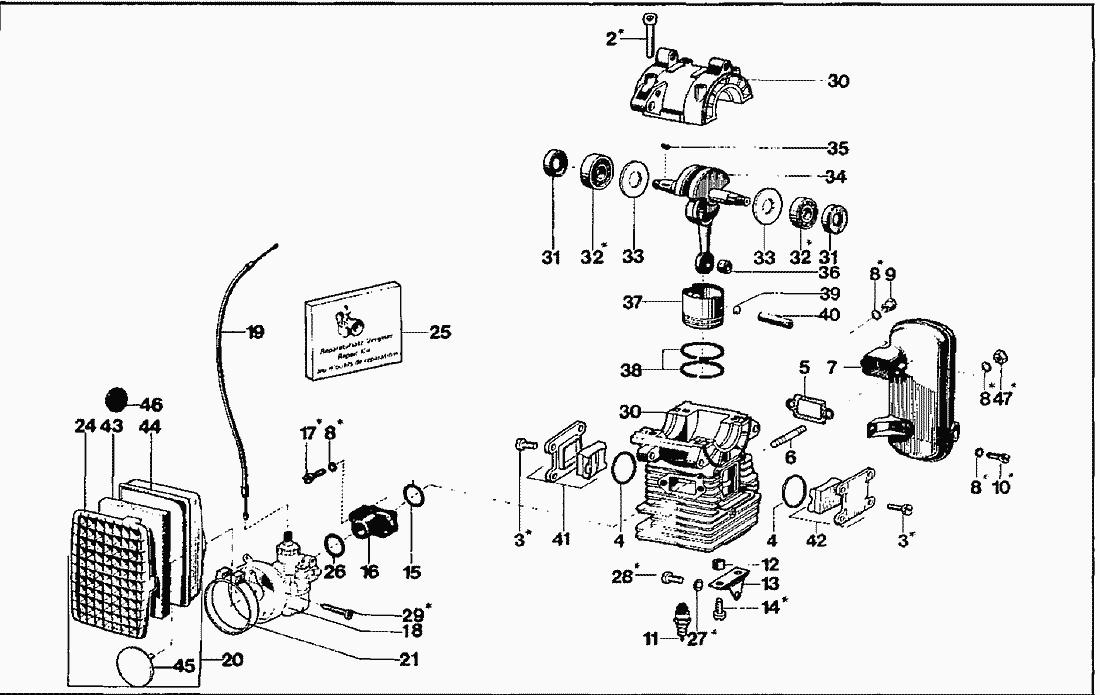 Spare Parts Lists for Solo Pesticide Applicators Engine