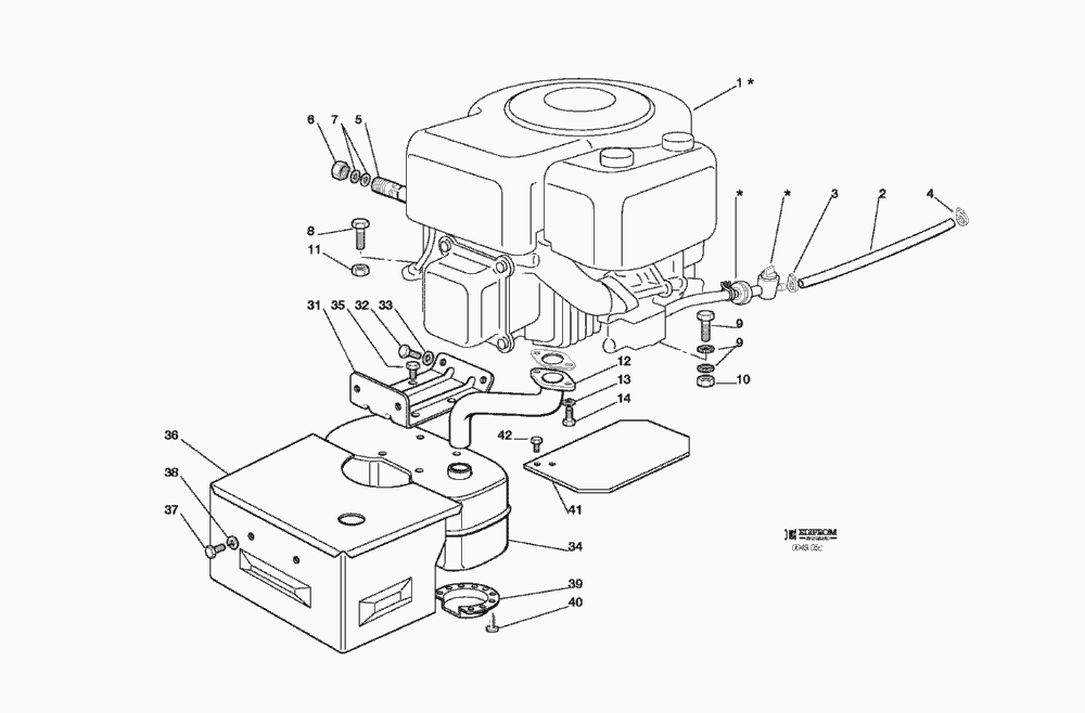 Spare Parts Lists for Solo Lawn Mower ENGINE 13 HP