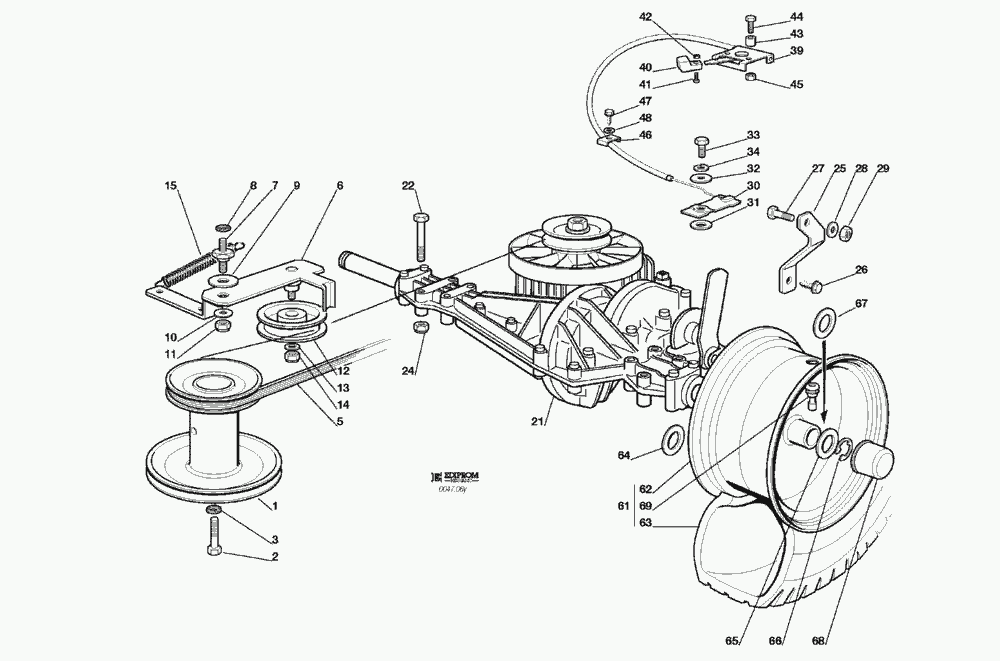 Spare Parts Lists for Solo Lawn Mower TRANSMISSION (F72 hy