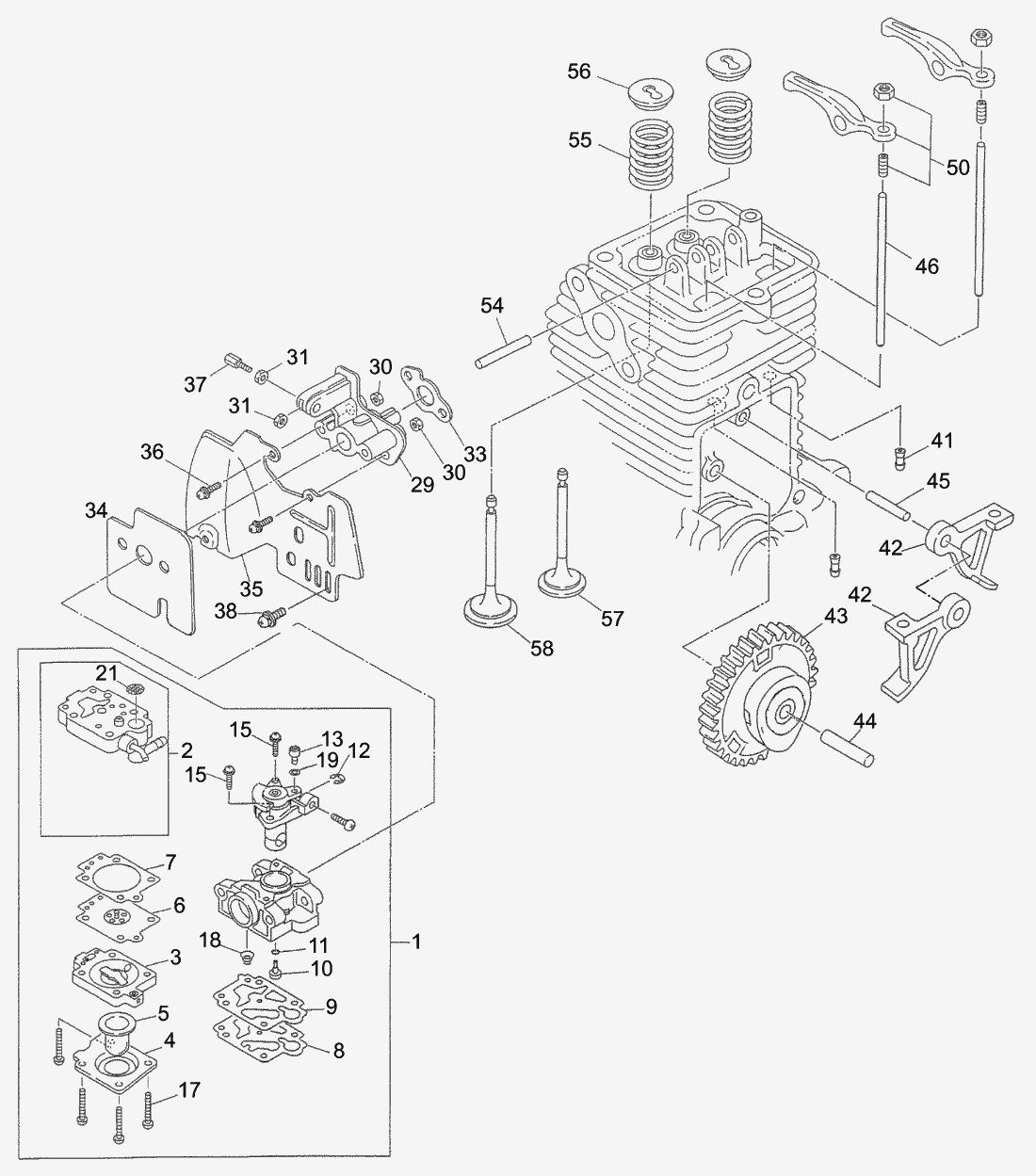 Spare Parts Lists For Solo Motorised Trimmers Carburetor