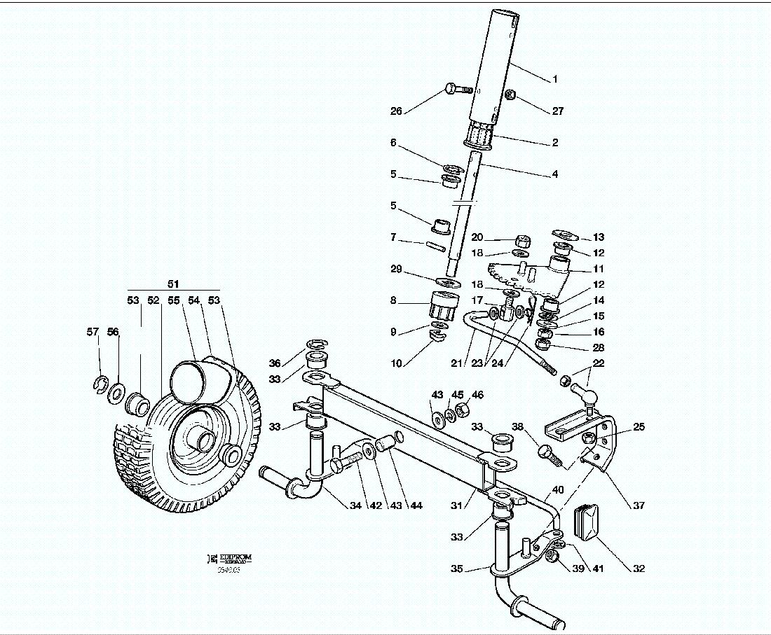 Spare Parts Lists for Solo Lawn Mower STEERING EL63 / EL63