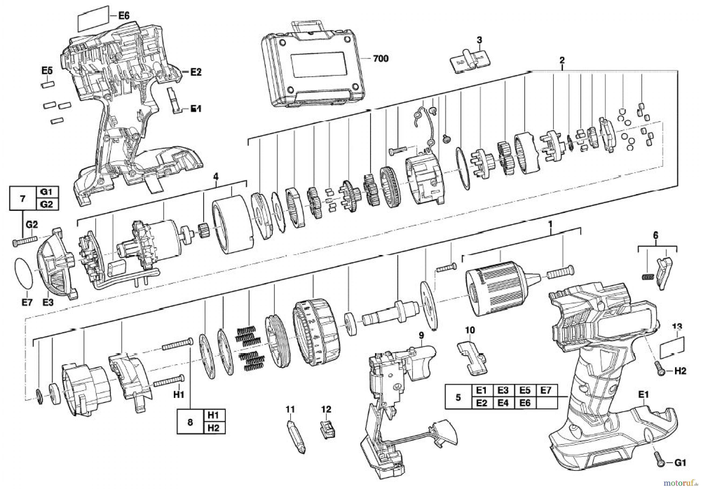AEG Powertools Akkugeräte 14,4 Volt BS 14C LI Ersatzteile