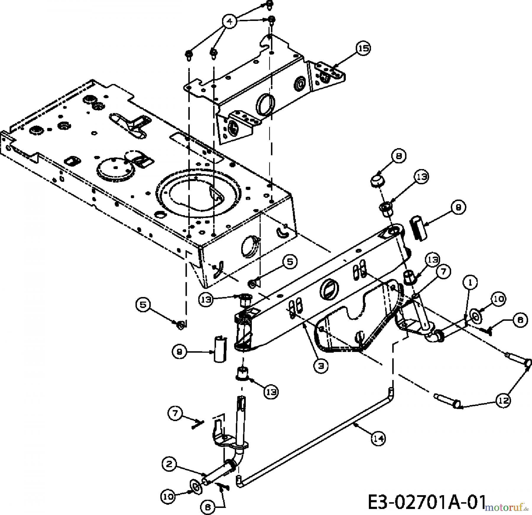 MTD ältere Modelle Rasentraktoren LG 175 13AD773G600 (2008