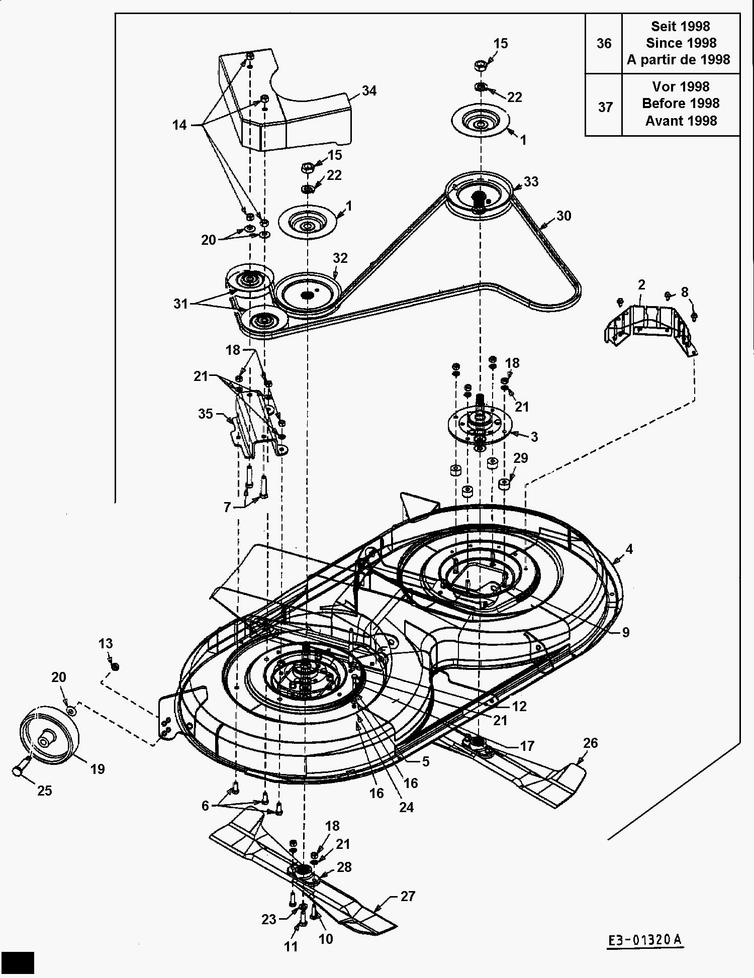 Schema Montage Courroie Tondeuse Autoportee Mtd