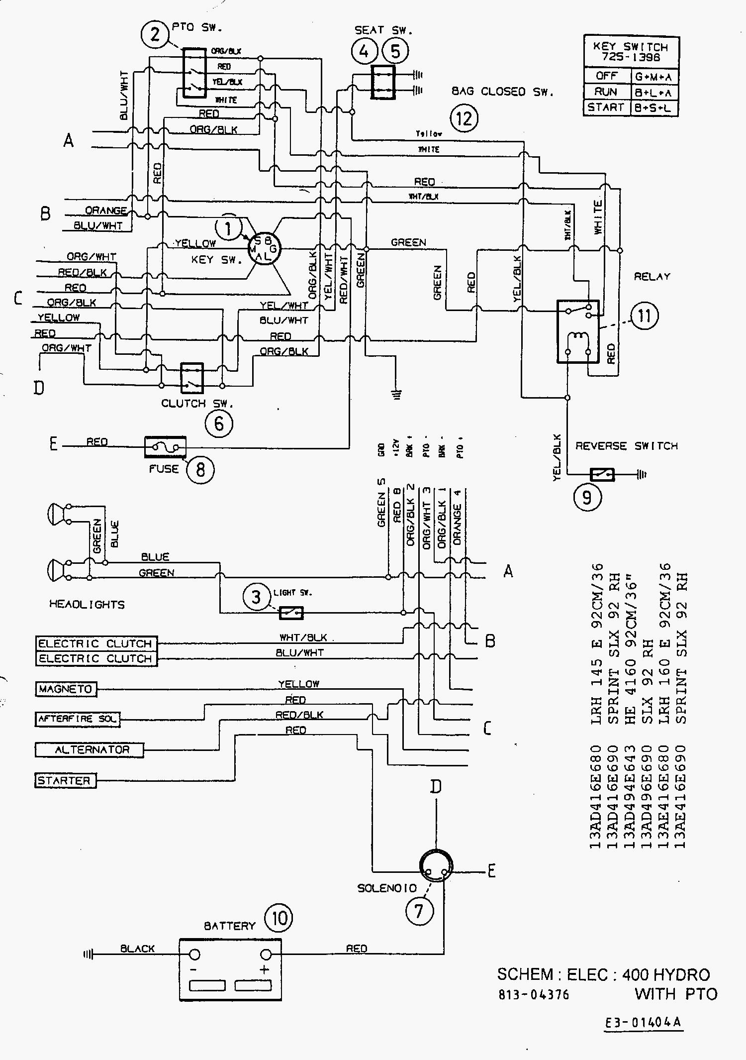 Mtd Lawn Tractor Wiring Diagram Car Tuning, Mtd, Free