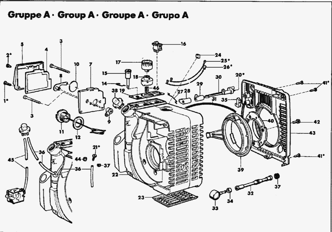Ersatzteillisten für Solo Multimot Motor / Gehäuse