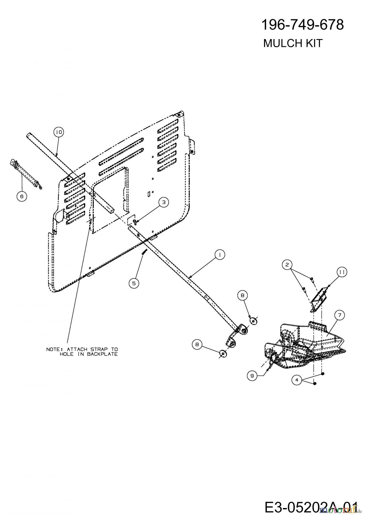 MTD Accessoires Accèssoires tracteur de jardin et de
