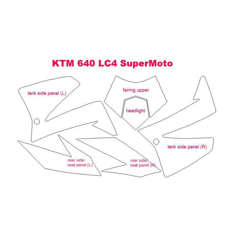 Kits de Protección para la moto KTM 640 LC4 Supermoto