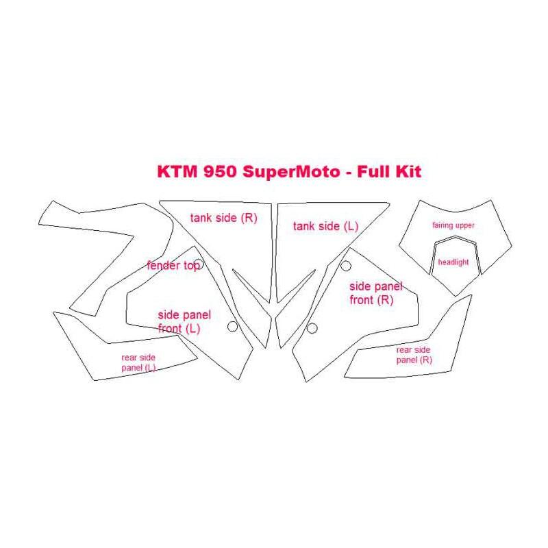 Kits de Protección para la moto KTM 950 SuperMoto